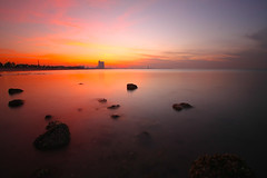 Immobility (mhels_13) Tags: ocean sunset rocks seascapes ramil mhels13 immobilty