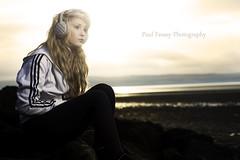 Sarah (Paul Fessey) Tags: sunset west beach speed paul photography high kirby nikon awesome jacket sync earmuffs wirral d300 sb800 fessey