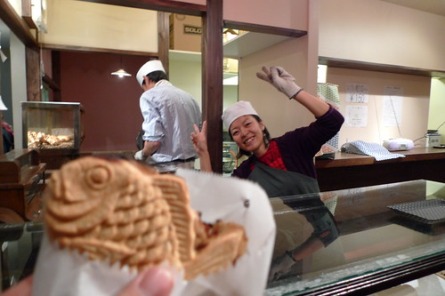 Eating Taiyaki