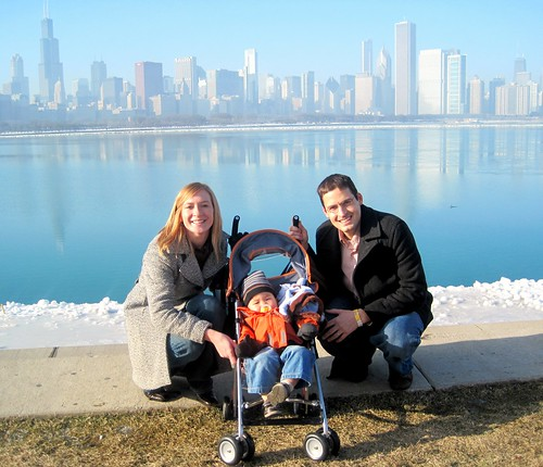 family photo in Chicago