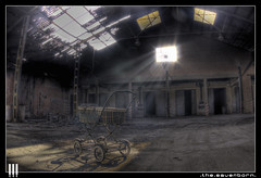 The Saver born (il COE) Tags: urban abandoned photoshop canon lights shadows decay wheelchair ombre creepy fisheye spooky abandon urbano luci exploration 16mm abandonment hdr coe decayed salvatore decadence passeggino urbex saver urb archeologia abbandono decadenza photomatix carrozzina esplorazione