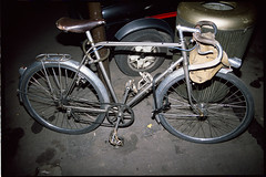 Unknown French Randonneuse (Chris Protopapas) Tags: france bicycle pentax cyclo stronglight randonneuse 650b maxicar smcpa28mmf28 pentaxart hurtu 1950sfrenchtouringbicycle cycloderailleur paris1988