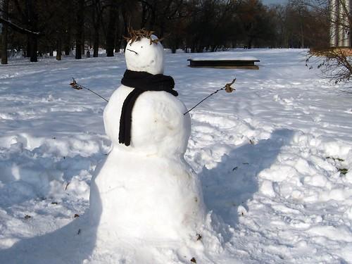 Boneco de neve em Praga