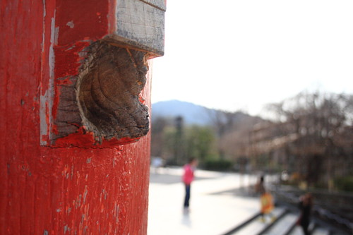 "The ""ear"" on the main gate in Kiyomizu temple"