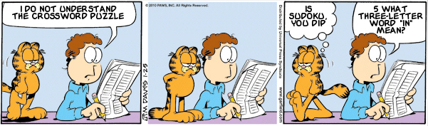 Garfield: Lost in Translation, January 25, 2010