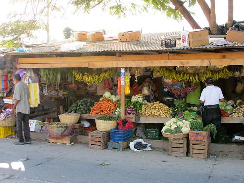 Outdoor Market - Flores, Guatemala