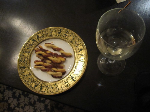 cheese straws and canapés