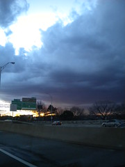 Driving home. . a lovely sky (fuzzyhead666) Tags: road sky arlington dc driving virgina 2010 mip666