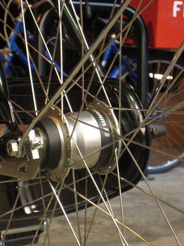 SRAM Spectro P5 hub with a coaster brake on our Deluxe Flying Pigeon 5-speed.
