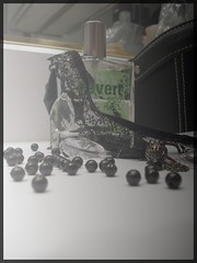 Eu de Broken, 3. (zombiance) Tags: classic broken vintage necklace cologne card joker