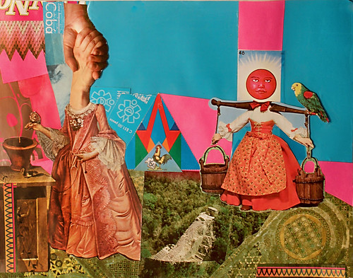 LARRY CARLSON, Yucatan Collage 1, collage on paper, 11inX14in, 2010.
