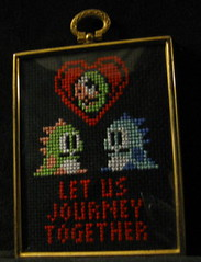 bbvframed (miss_j_bean) Tags: crossstitch valentine nes bubblebobble