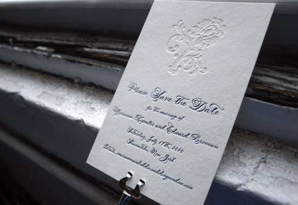 Letterpress Save the Dates by Smock
