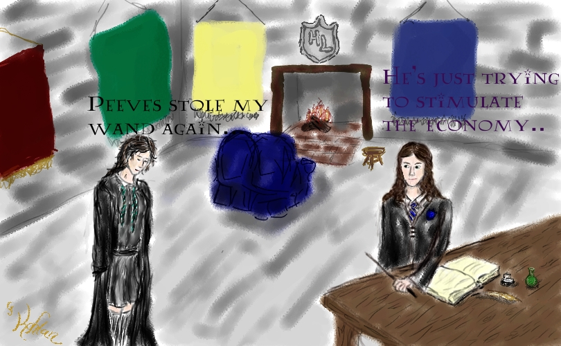 Peeves by Kahlan - Hogwarts Live Webcomic