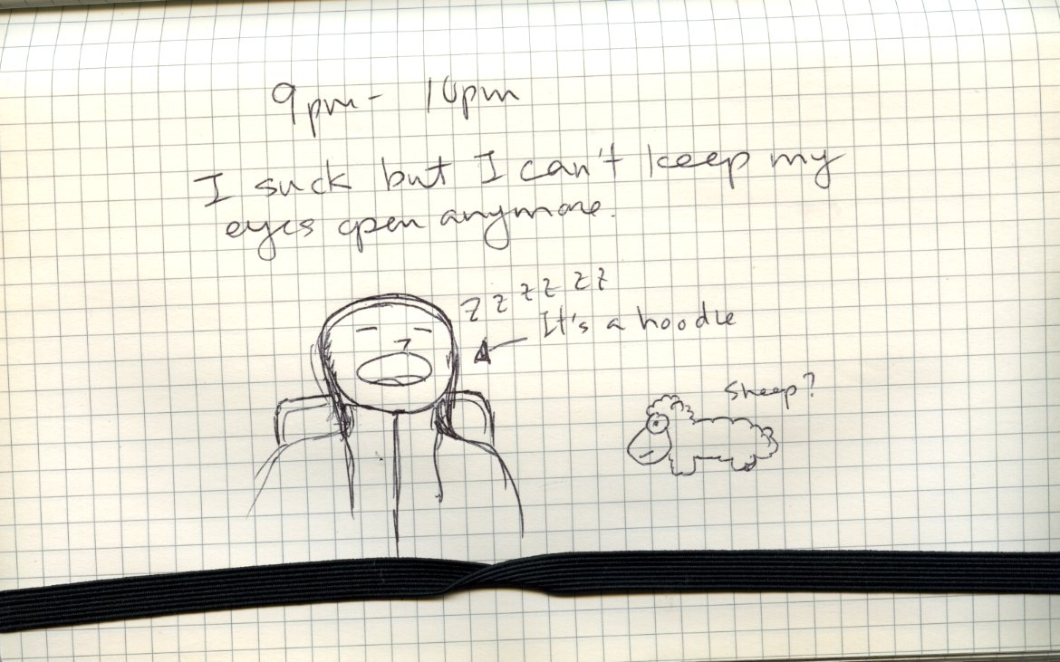 9pm - 10pm Hourly Comic