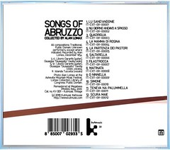 """""""Songs of Abruzzo - collected by Alan Lomax"""" (back)"""