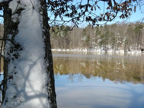 Snow, Salem Lake, North Carolina