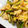Asparagus & Top Shell Stir Fry