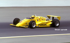 Rick Mears Indy '85 (santa cruz graybeard) Tags: yellow speed 1 helmet miller panning 1985 goodyear motorsport champcar indy500 indycar pennzoil penskeracing rogerpenske rickmears ovalracing marchengineering marcsproule march85c