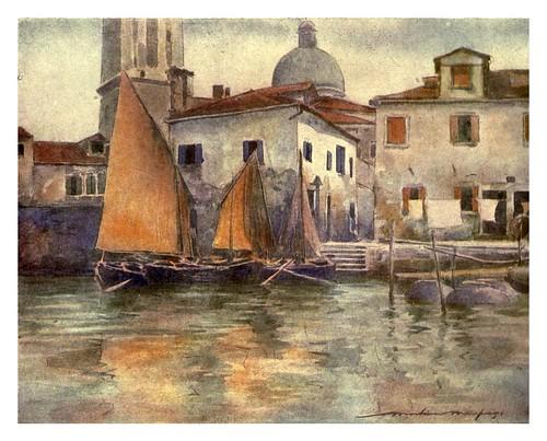 024- Barcos de pesca en Chioggia-Venice – 1904-Dorothy Menpes