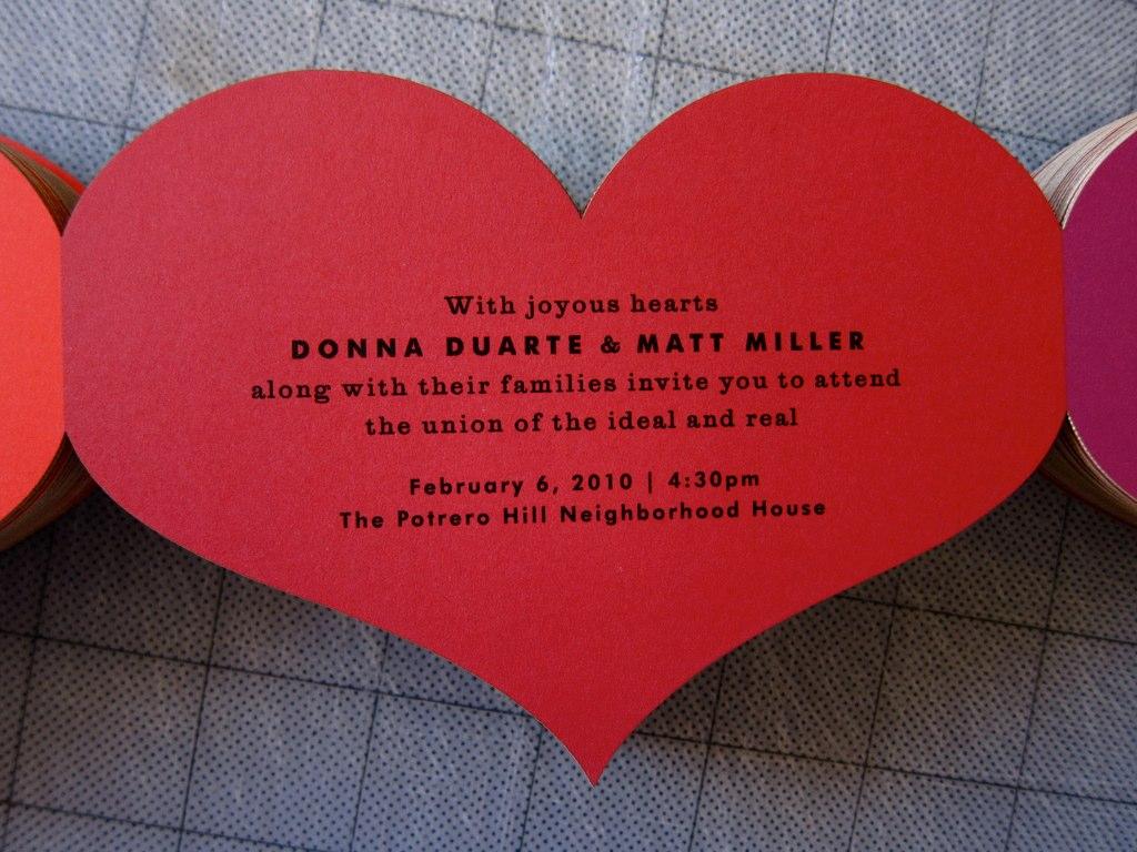 The Indigo Bunting: Heart invitations