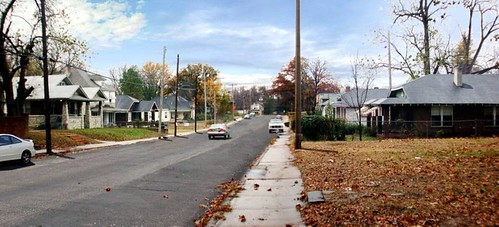 a residential street in Memphis (courtesy of Urban Advantage)