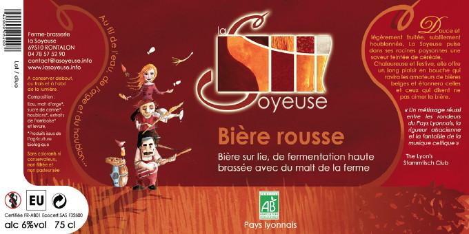 Etiquette Bière La Soyeuse Rousse