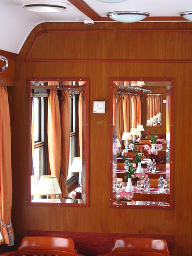 European heritage train for charters - restaurant car