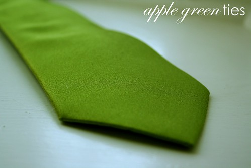 apple green groomsmen ties