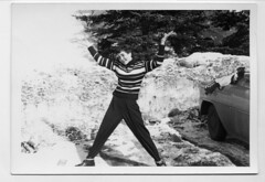 Snowbank (Awkward Boy Hero) Tags: snow oregon portland northwest oldphotos snowbank foundphotos whoo antiquephotos somanyuniquetreasures exceptmaybenotoregon awkwardboyhero