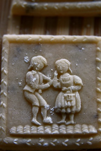 Springerle crudo. Motivo Hansel y Gretel.