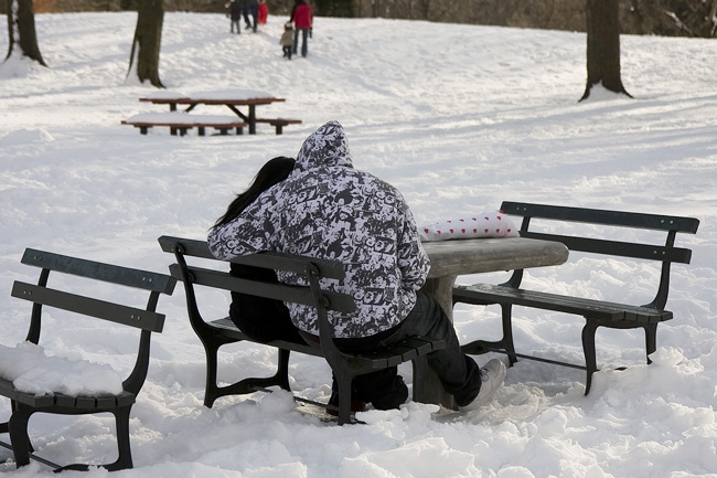 Valentine's date, Prospect Park
