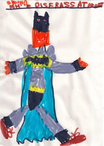 Dibuix disfressa Batman