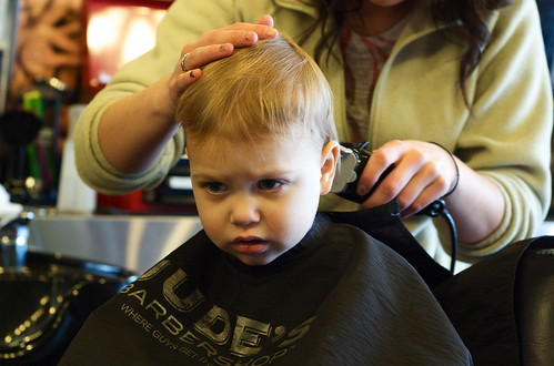 Oliver's first hair cut