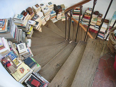 books on stairs by amanda.siegers.