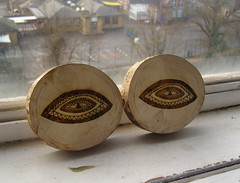 Eyes (Jub.Jub) Tags: wood windows illustration eyes pride sevendeadlysins lasercut fmp