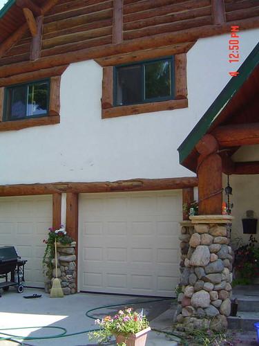 stucco logs