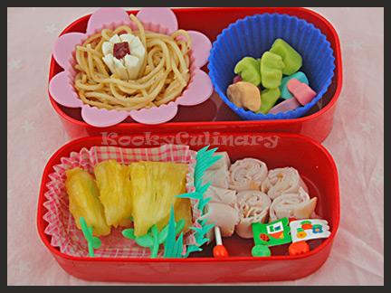 Bento #95 - Flowery Pasta