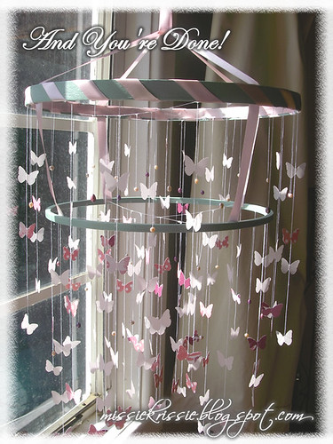 Done! (Tutorial- How to make a Chandelier Style Butterfly Mobile)