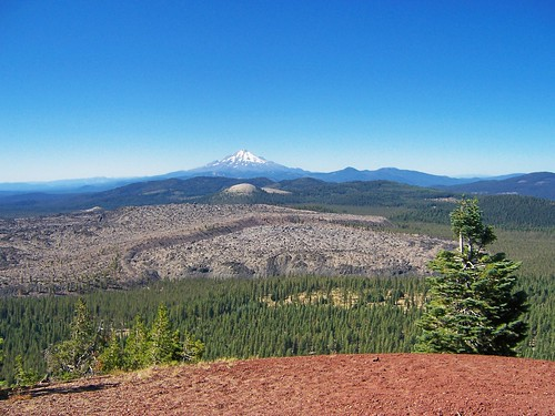 Mount Shasta and Little Glass Mountain from Medicine Lake Volcano ...