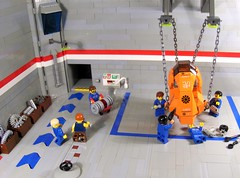 "Repair Hangar ""A"" (Ludgonious) Tags: station liu ship lego parts space garage hangar worker mechanic m31p5"