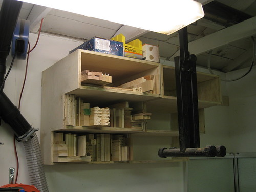 roller stand obscures shelving