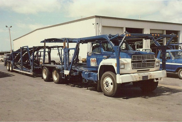 tractor ford truck semi hadley trailer carcarrier hauler fseries