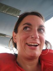 on a water taxi (drewdomkus) Tags: dawn drew panama bocasdeltoro dawnanddrew miceli domkus