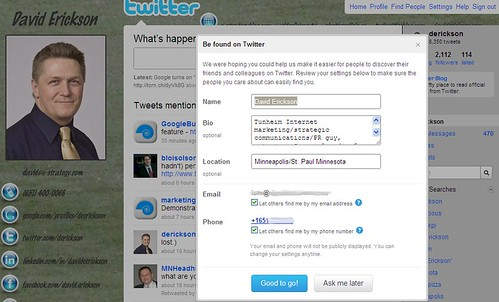 Be Found On Twitter Screenshot - 02/26/10