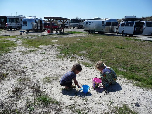 at the padre island campground.