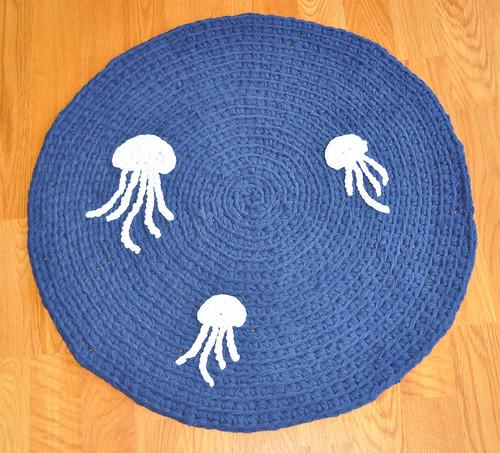 Jellyfish Crocheted Rug