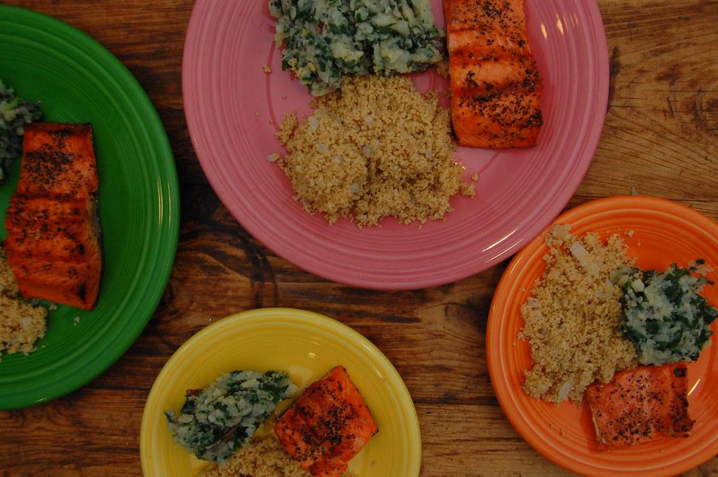 weekly salmon dinner