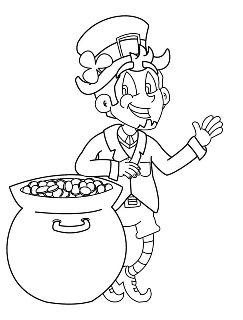 St. Patrick's Day coloring book pages! Leprechaun coloring pages