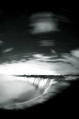 Niagara Falls in BW (Insight Imaging: John A Ryan Photography) Tags: longexposure sky blackandwhite ontario canada water night niagarafalls